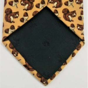 Brooks Brothers Accessories - Brooks Brothers Yellow Squirrel Acorn Silk Tie